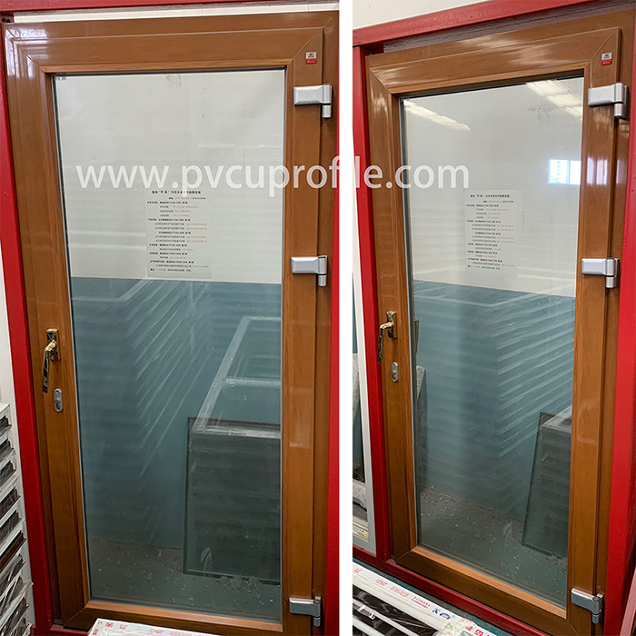 Vinyle sur mesure en plastique coloré UPVC Windows Ventanas Termopanel